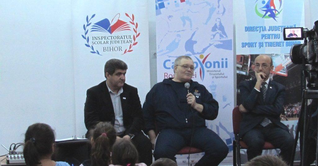 Campionii Romaniei – Medaliatul cu bronz la JO Los Angeles 1984, Mihai Cioc, la Liceul ortodox din Oradea